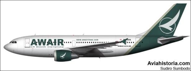 Airbus A310 PK-AWA AWAir