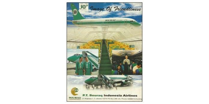 30 Tahun Bouraq Image Of Friendliness Aviation History Of Indonesia