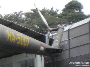 Detail rotor ekor.