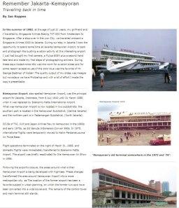 Kemayoran tempo doeloe, bandara internasional bersejarah dan ikon ibukota Jakarta.