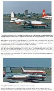 MNA mengandalkan Fokker F27 untuk jalur domestik dan perintis dari Jakarta.