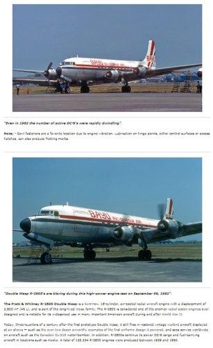 Bayu Airlines spesialisasi di bidang kargo menggunakan DC-6 bermesin piston.