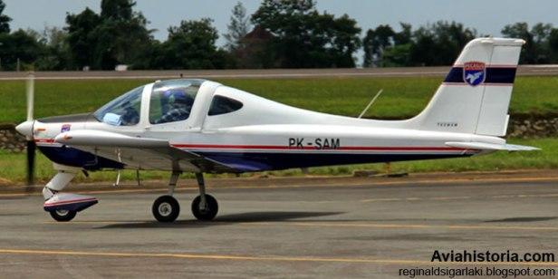 Tecnam P96 Golf, pesawat keempat yang punya registrasi sama PK-SAM.