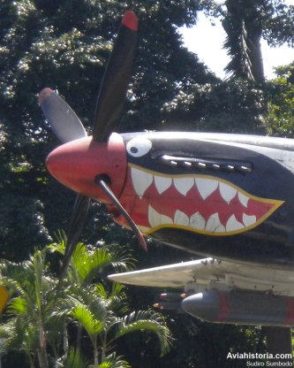 "Detail shark nose art, sering dijuluki ""Cocor Merah""."