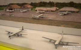 Miniatur apron dan terminal Bandara Internasional Kemayoran.