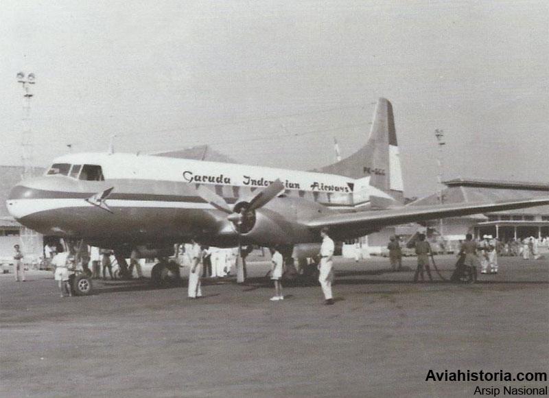 kedatangan-convair-cv-240-di-kemayoran-2